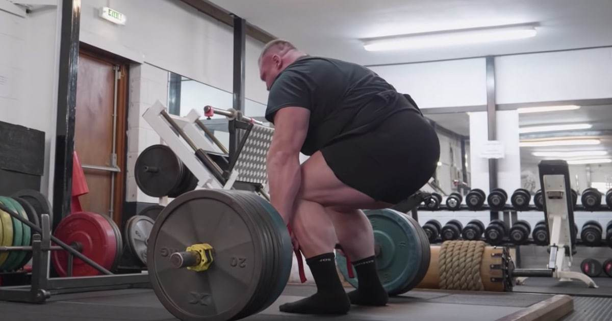 Benedikt Magnusson Deadlift Routine