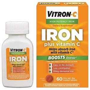 Vitron-C High Potency Iron Supplement with Vitamin C
