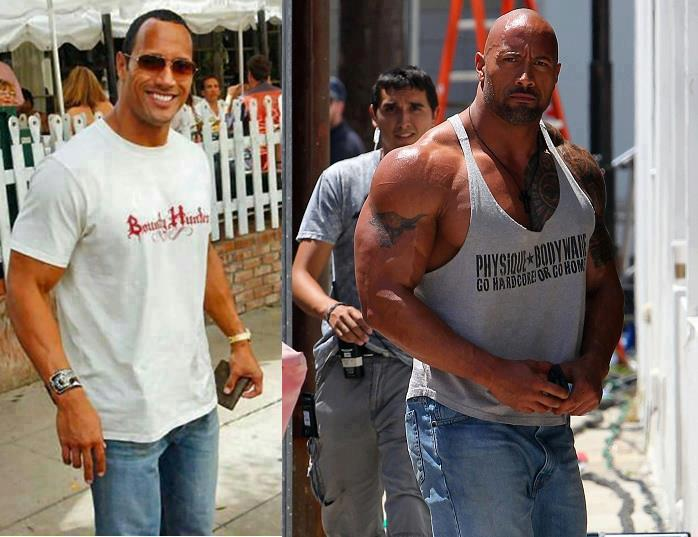 dwayne johnson transformation