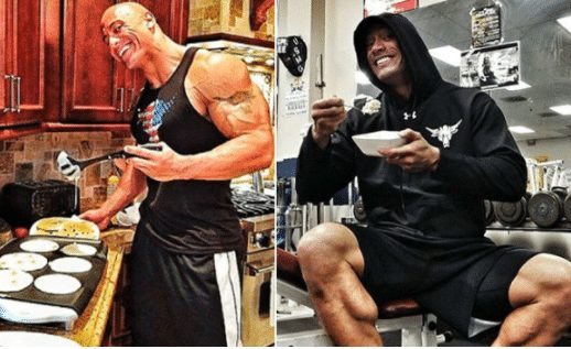 the rock eating