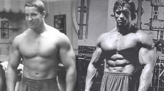 arnold before and after steroids