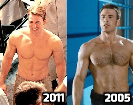 chris evans transformation