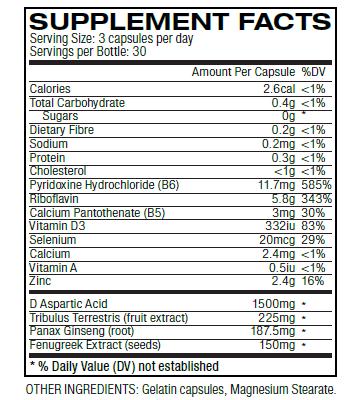 testo ingredients