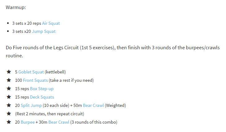 cardio legs workout