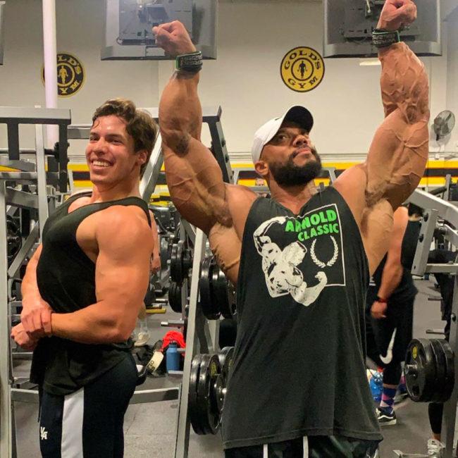 Sergio Oliva Jr. Training arnold