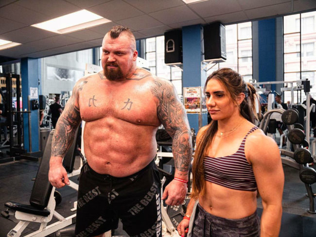 Eddie Hall And Gorgeous Powerlifter Stefi Cohen