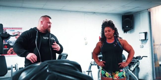 Eddie Hall Coaches Andrea Thompson