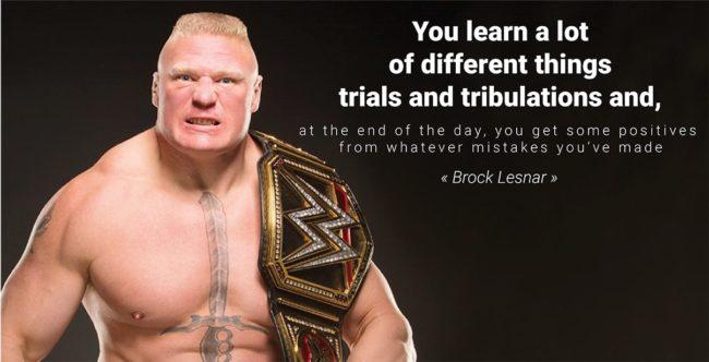 Wrestling Quotes brock lesnar