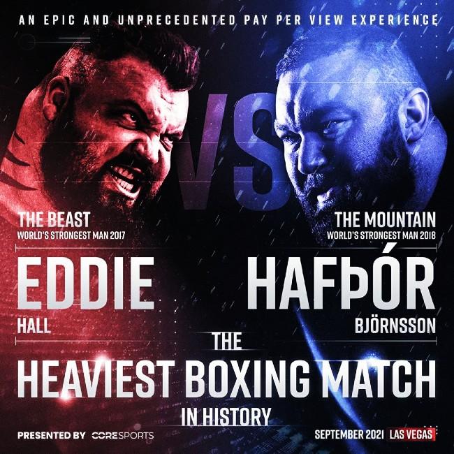Boxing Challenge Eddie Hall Hafthor Bjornsson