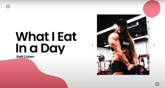 Stefi Cohen Daily Diet