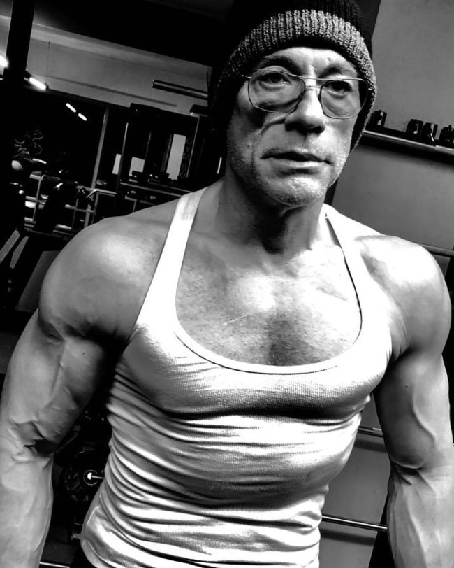 Van Damme home workout